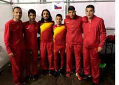 Equipo español en el Sénior masculino de Tilburg (Holanda).