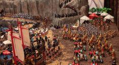 Una imagen de la recreación de la batalla. /ACT