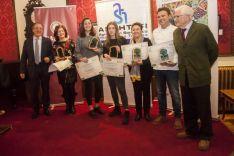 Una imagen de la entrega de premios esta noche en el Casino. /FOES