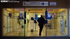 Entrada principal al hospital de Santa Bárbara. /SN