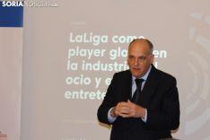Javier Tebas desarrolla una ponencia en Soria. SN