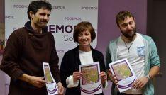 Jorge Ramiro, (izda.), Marisa Muñoz y Juan Carlos García este martes. /SN