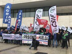 Imagen de la concentración de este jueves en Valladolid.
