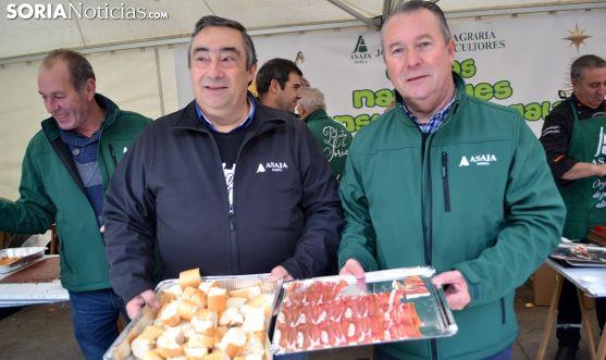 Carmelo Gómez (izda.) y Donaciano Dujo este viernes. /SN