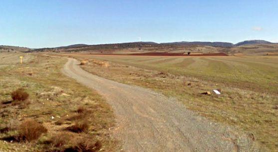 Un camino rural en el término de Hinojosa del Campo. /GM