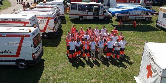 Despliegue de Cruz Roja Soria en Valonsadero durante unos Sanjuanes.