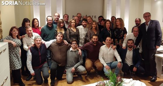 El equipo de Soria Noticias este jueves en el Baluarte. /SN
