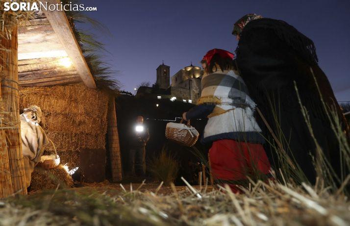 Una de las imágenes del belén viviente en la localidad de Tierras Altas.