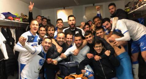 El Almazán celebra la victoria. /Twitter