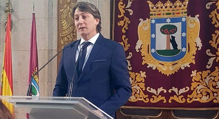 El alcalde soriano, en su intervención este martes en el ayuntamiento de Madrid. /Ayto.