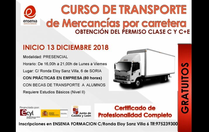 Foto 1 - Curso gratuito de transporte de mercancías por carretera