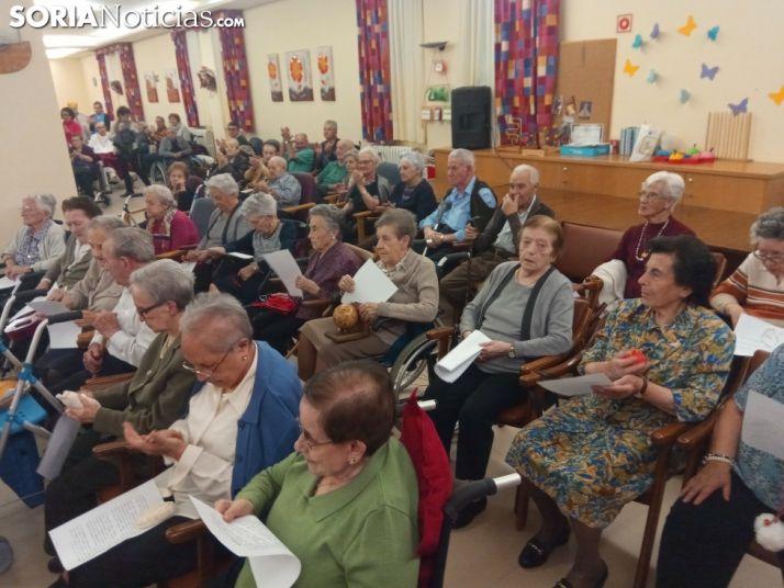 Una imagen del salón de actos de la residencia esta tarde. /SN