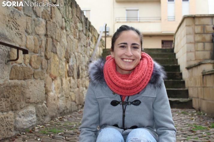 Cristina Juarranz, la florista-motorista más dicharachera de Soria. SN