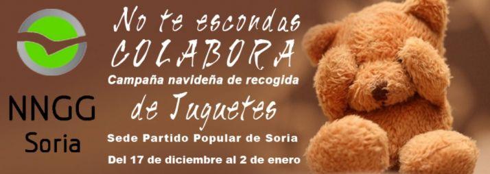 Foto 1 - 'No te escondas, colabora', lema para la campaña de juguetes de NNGG del PP
