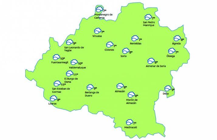 Mapa a las 14:00 horas. /eltiempo.es