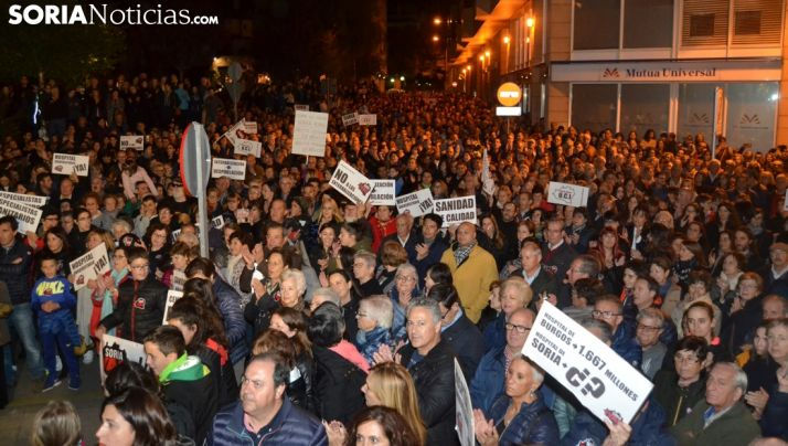 Una imagen de la multitudinaria manifestación de la plataforma a finales de octubre. /SN