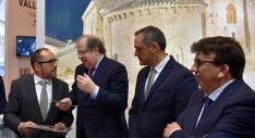 Luis Rey, con Juan Vicente Herrera y los diputados Navas y Cedazo. /Dip.