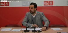 Ángel Hernández, procurador socialista soriano en rueda informativa. /SN