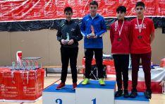 Barrios, en lo alto del podio en Liencres. /CBS-CS24