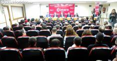 Un acto en el salón principal de la Cámara de Soria. /SN