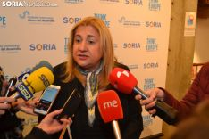 Yolanda de Gregorio a su llegada al Think Europe. SN