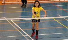 Diana García, una de las jóvenes deportistas del Valonsadero Bádminton. /CVB