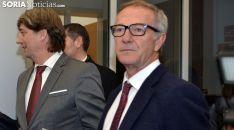 José Guirao, junto al alcalde de Soria, en la inauguración de los cines mercado. /SN