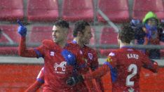 Oyarzun celebra su golazo (2-0). LaLiga