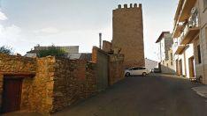 El torreón está ubicado en la zona más alta del casco urbano de Ágreda.