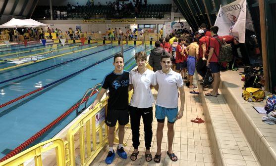 Los nadadores sorianos en las instalaciones de Camargo. /CNS
