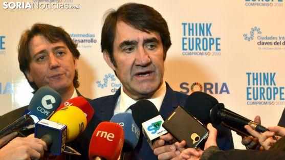 Juan Carlos Suárez-Quiñones, en su intervención ante la prensa este miércoles en el Think Europe. /SN
