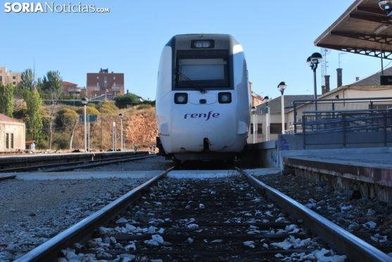 Estación de tren en Soria.