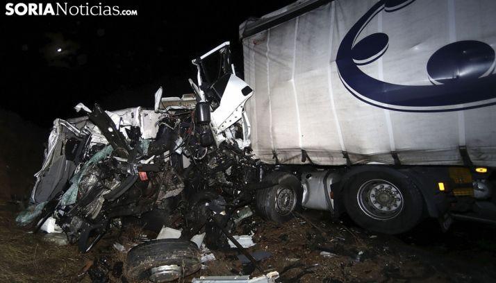 Un accidente registrado en carreteras sorianas. /SN