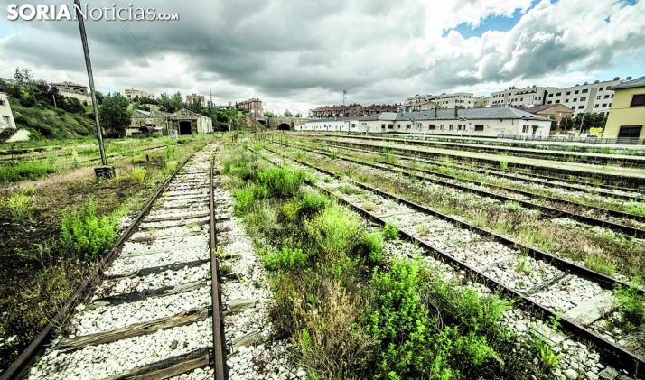 Una imagen de la estación del Cañuelo en la capital soriana. /SN