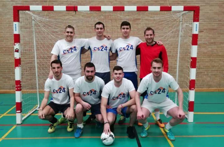 El Cs24, campeón de la copa de la Primera división de fútbol sala. Cedida