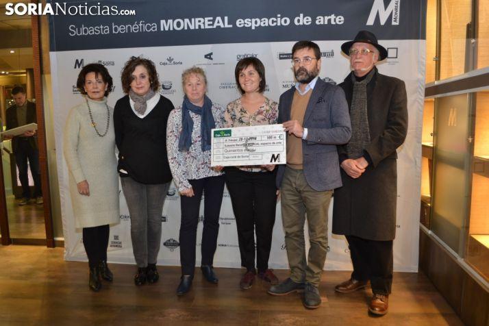 Representantes de Soria Solidaria, entidad también beneficiada. /SN