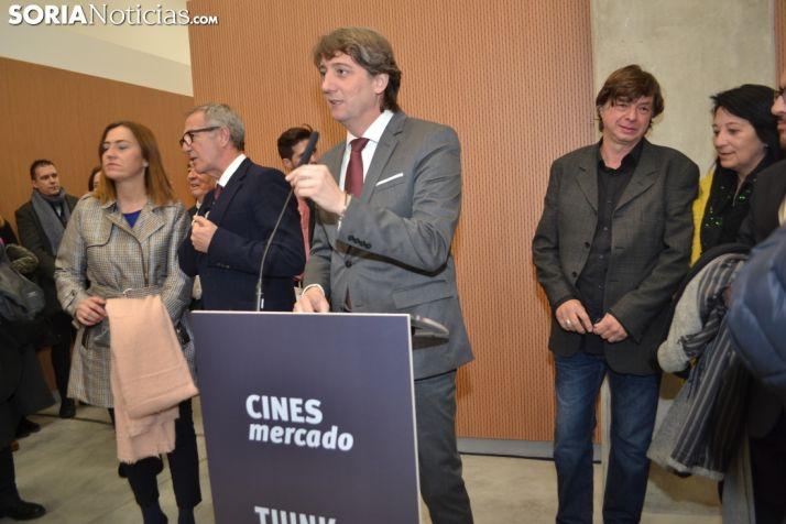 Imagen de la inauguración de los cines Mercado este miércoles. /SN