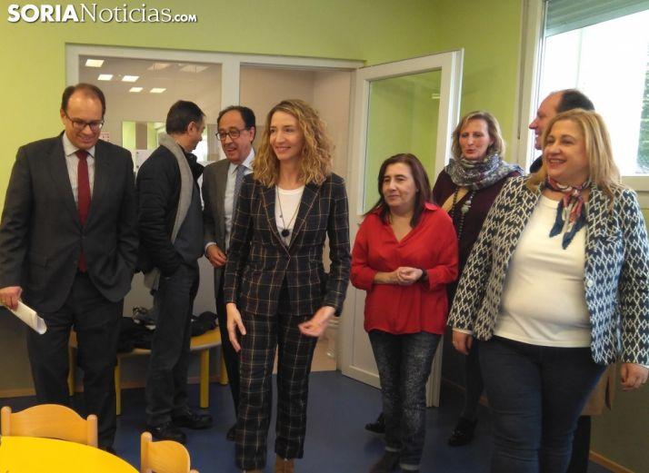 La consejera Alicia García visita las instalaciones de 'El Olmo'. /SN