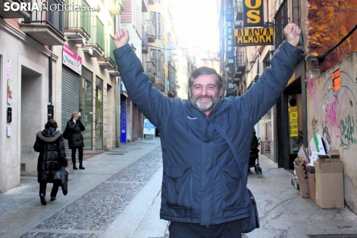 Javier García Chico rememora la fotografía que le realizaron tras colgarse el bronce en Barcelona'92. /Soria Noticias