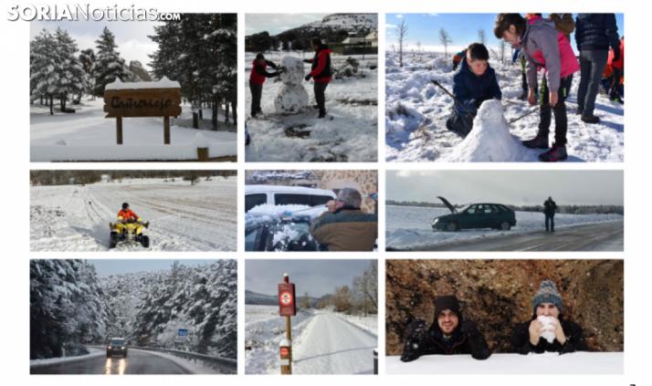 GALERÍA: Primera nevada del 2019 en la provincia de Soria