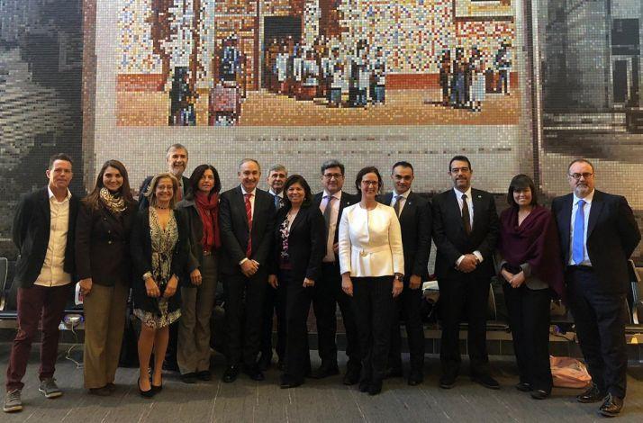 La delegación castellano-leonesa en Texas.