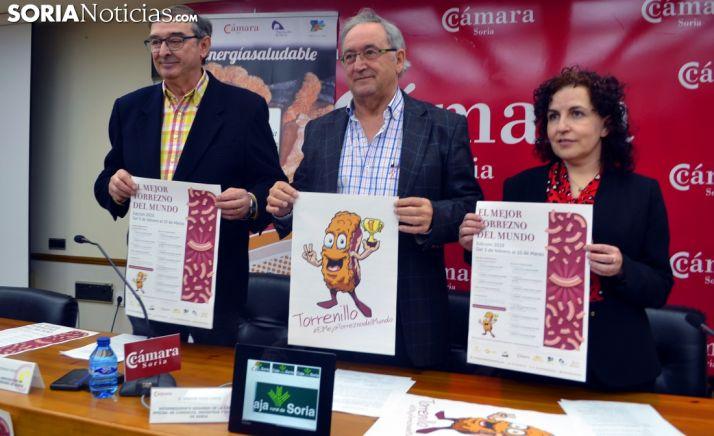 Beatriz Martínez, Amador Frías y Samuel Moreno en la presentación del concurso. /SN