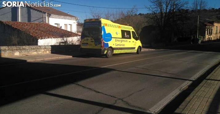 La ambulancia en el lugar de los hechos. /SN