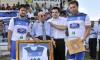 Homenaje al fundador de la SD Almazán en el 50º aniversario del club. /Tw
