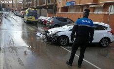 Imagen del siniestro ocurrido en la avenida de la Constitución. /SN