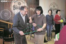 En la Asociación Alzheimer Soria, actividades varias. Encarna Muñoz