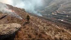 Una quema controlada programada y autorizada en la provincia. /BRIF