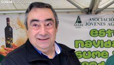Carmelo Gómez, presidente de ASAJA, en un acto de la organización este invierno. /SN