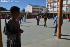 Una imagen del ambiente en el patio del colegio. /SN