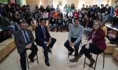 Javier Gracia (izda.), Carlos Martínez, Óscar Abellón y Cristina Usón.